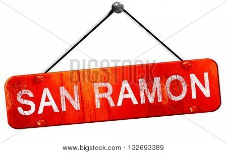 san ramon, 3D rendering, a red hanging sign