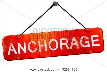anchorage, 3D rendering, a red hanging sign