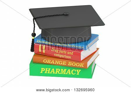 Pharmacy Education concept 3D rendering isolated on white background
