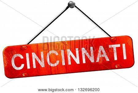 cincinnati, 3D rendering, a red hanging sign