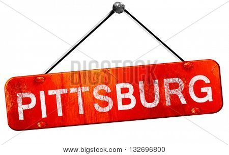pittsburg, 3D rendering, a red hanging sign