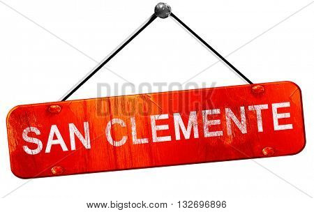 san clemente, 3D rendering, a red hanging sign