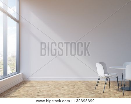 Conference Room With Empty Wall