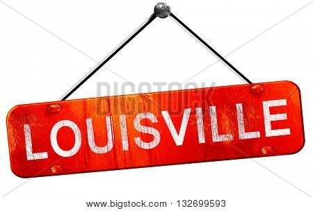 louisville, 3D rendering, a red hanging sign