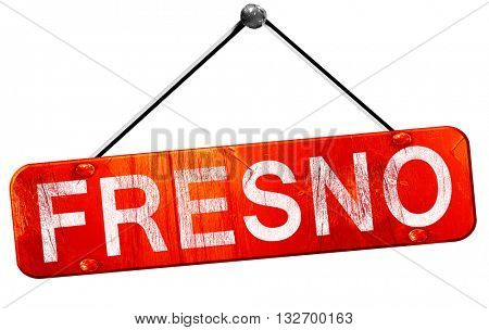 fresno, 3D rendering, a red hanging sign