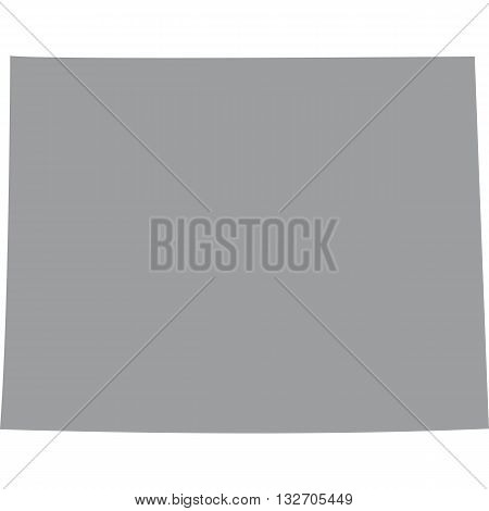 U.S. state on the U.S. map Wyoming vector