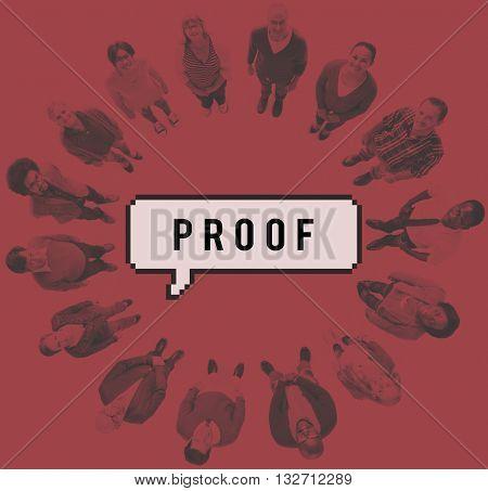Proof Argument Certification Conformation True Concept