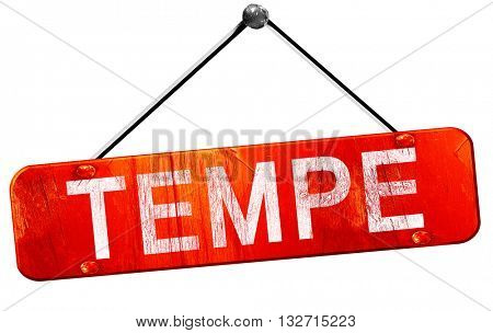 tempe, 3D rendering, a red hanging sign