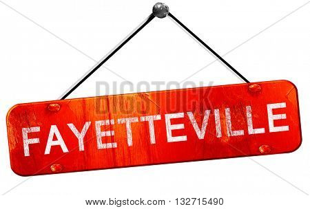 fayetteville, 3D rendering, a red hanging sign