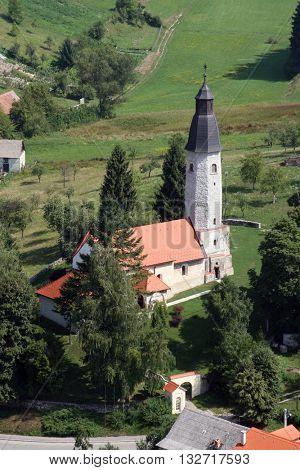 SVETI MARTIN POD OKICEM, CROATIA - JULY 19: Church of Saint Martin in Sv. Martin pod Okicem, Croatia on July 19, 2007.