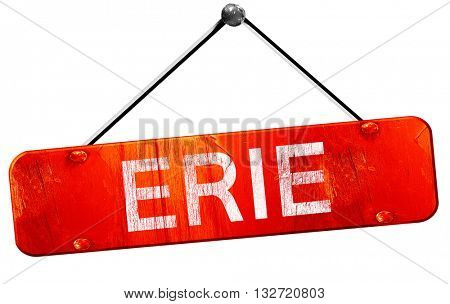 erie, 3D rendering, a red hanging sign