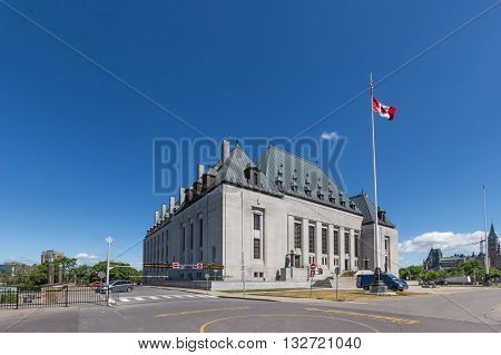 Supreme Court of Canada building in Ottawa, Canada