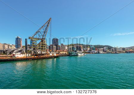 Wellington New Zealand - November 18 2014: The Harbourfront Wellington New Zealand capital city of New Zealand. Modern architecture.