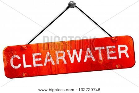 clearwater, 3D rendering, a red hanging sign