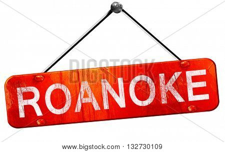 roanoke, 3D rendering, a red hanging sign