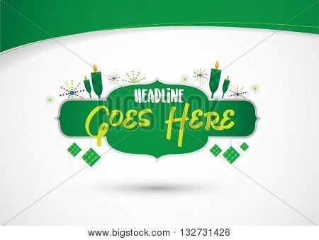 Vector of festive and celebration elements