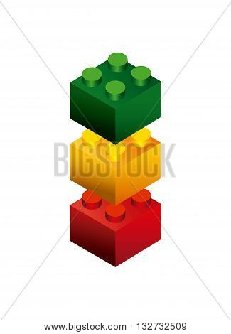blocks to build design, vector illustration eps10 graphic