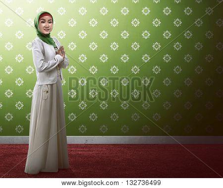 Asian Muslim Woman Praying