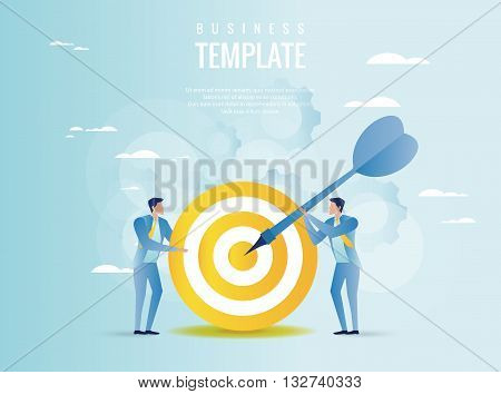Vector illustration of strategy planning concept. Business cooperation concept