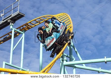 Northern`s California Only Spinning Coaster, Santa Cruz, California