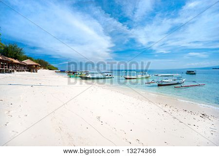 Beautiful Sea At Gili Meno, Indonesia.