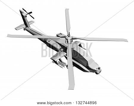 Vector illustration of a helicopter. Isolated. EPS8.