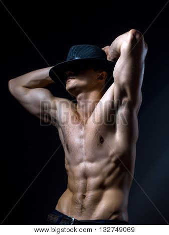 Sexy Muscular Man In Hat