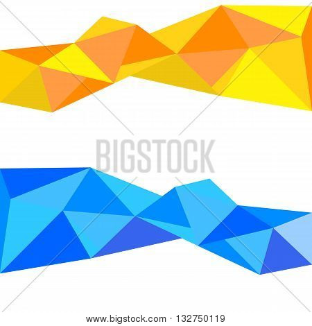 Geometric Vector Background Banne Abstract Design Triangle Eps 10