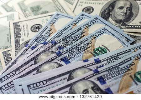 Hundred-dollar Bills Background, Thirst For Wealth, Renting, Pocket Money,