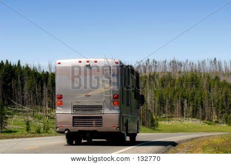 Rv Recreational Vehicle In Yellowstone