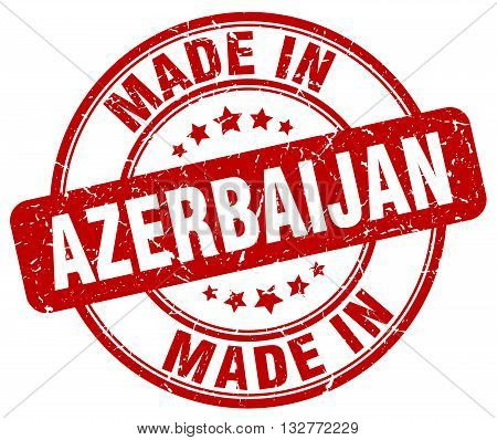made in Azerbaijan red round vintage stamp.Azerbaijan stamp.Azerbaijan seal.Azerbaijan tag.Azerbaijan.Azerbaijan sign.Azerbaijan.Azerbaijan label.stamp.made.in.made in.
