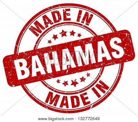made in Bahamas red round vintage stamp.Bahamas stamp.Bahamas seal.Bahamas tag.Bahamas.Bahamas sign.Bahamas.Bahamas label.stamp.made.in.made in.