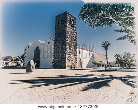 Church of Our Lady of Candelaria in La Oliva, Fuerteventura, Canary Islands, Spain