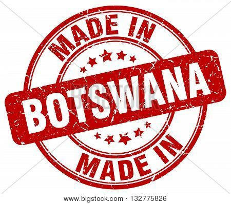 made in Botswana red round vintage stamp.Botswana stamp.Botswana seal.Botswana tag.Botswana.Botswana sign.Botswana.Botswana label.stamp.made.in.made in.