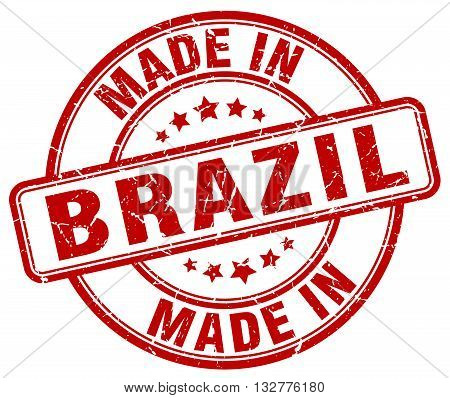 made in Brazil red round vintage stamp.Brazil stamp.Brazil seal.Brazil tag.Brazil.Brazil sign.Brazil.