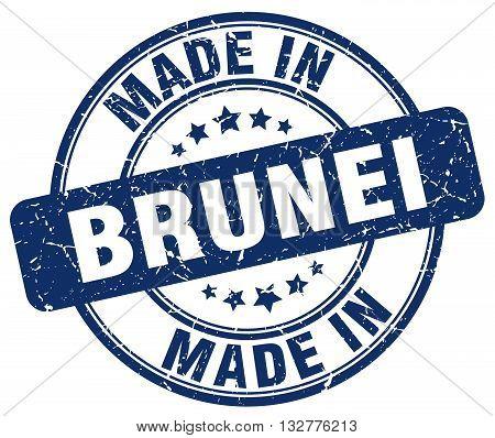made in Brunei blue round vintage stamp.Brunei stamp.Brunei seal.Brunei tag.Brunei.Brunei sign.Brunei.