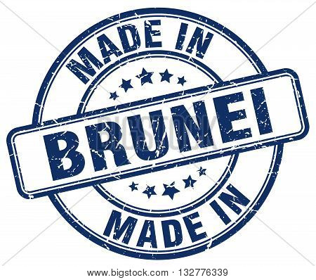 made in Brunei blue round vintage stamp.Brunei stamp.Brunei seal.Brunei tag.Brunei.Brunei sign.Brunei.Brunei label.stamp.made.in.made in.