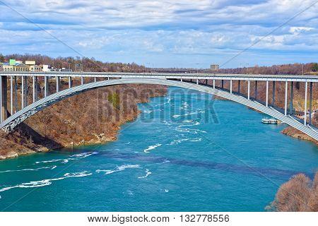 Rainbow Bridge Above Niagara River Gorge