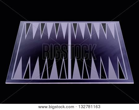 backgammon board isolated on a black background