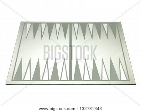 close up shot of backgammon board isolated on a white background