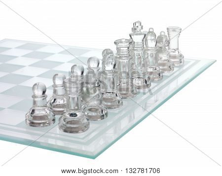cropped image of shiny chess piece isolated on a white background