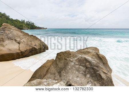 Granit Rocks At Anse Intendance, Seychelles