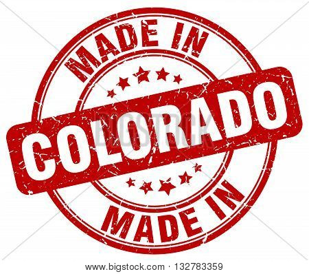 made in Colorado red round vintage stamp.Colorado stamp.Colorado seal.Colorado tag.Colorado.Colorado sign.Colorado.Colorado label.stamp.made.in.made in.