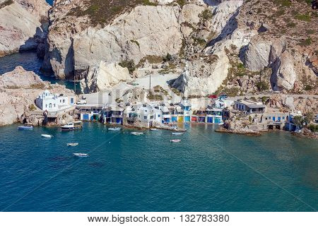 View of Fyropotamos, Milos island, Cyclades, Greece