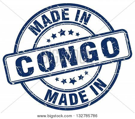 made in Congo blue round vintage stamp.Congo stamp.Congo seal.Congo tag.Congo.Congo sign.Congo.Congo label.stamp.made.in.made in.