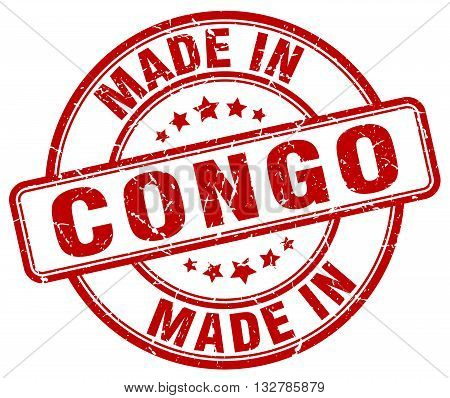 made in Congo red round vintage stamp.Congo stamp.Congo seal.Congo tag.Congo.Congo sign.Congo.Congo label.stamp.made.in.made in.