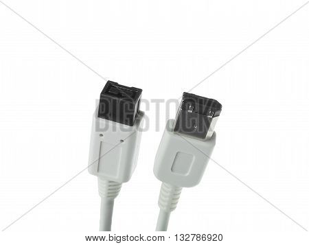 usb cable isolated on a white background