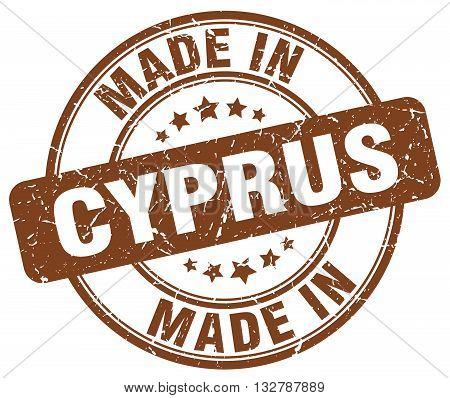 made in Cyprus brown round vintage stamp.Cyprus stamp.Cyprus seal.Cyprus tag.Cyprus.Cyprus sign.Cyprus.Cyprus label.stamp.made.in.made in.