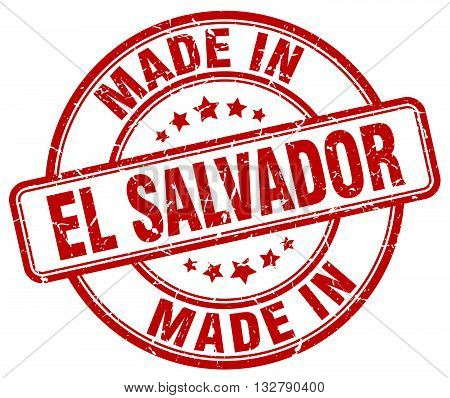 made in El Salvador red round vintage stamp.El Salvador stamp.El Salvador seal.El Salvador tag.El Salvador.El Salvador sign.El.Salvador.El Salvador label.stamp.made.in.made in.