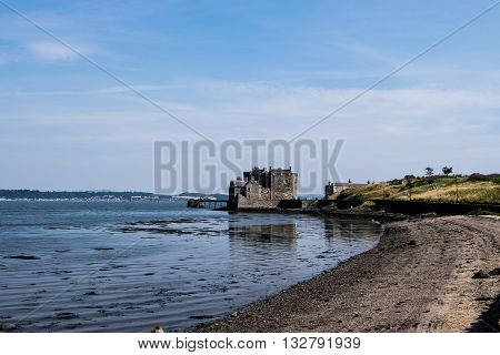 Stunning Blackness Castle on the Firth of Forth Scotland